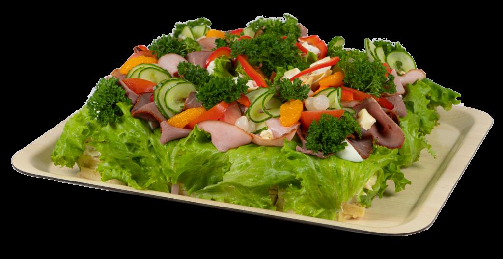 Smörgåstårta skinka & rostbiff